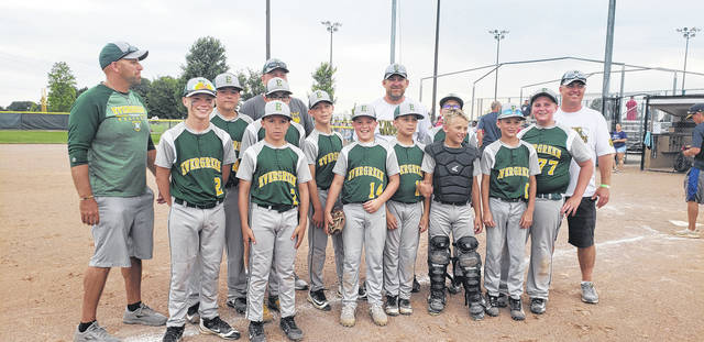 The Evergreen 12u baseball team captured a title at the Archbold Backyard Bash which took place Saturday, June 22. The Vikings defeated Findlay Full Tilt, a team made up of players from Findlay and Leipsic, 1-0 for the title.