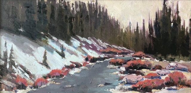 October Snow, one of John Steele's painting, that will be on display at 20 North Gallery.