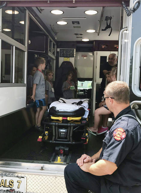 Safety Village students got to see inside an ambulance last week.