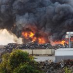 Large fire burns at MetalX in Delta