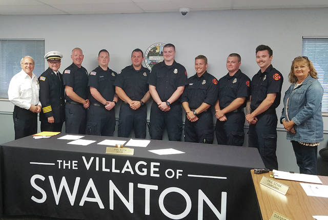 New Swanton firefighters were sworn-in during Swanton Village Council's Aug. 26 meeting.