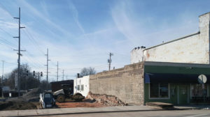 Downtown Swanton building torn down