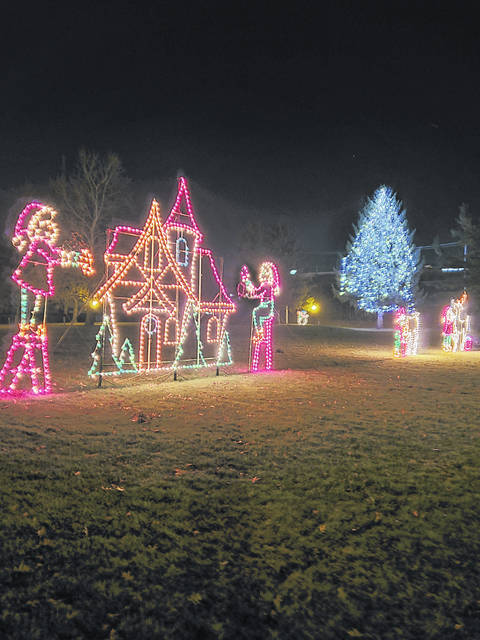The light display at Pilliod Park once again delighted area residents during the Christmas season. Pilliod Park is located at the corner of Hallett Avenue and Chestnut Street in Swanton.