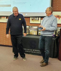 School board recognizes two retirees, boosters