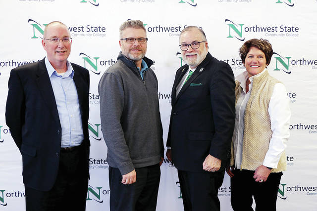 NSCC Board of Trustees for the 2020-21 academic year are, from left, Second Vice Chair Scott Mull, Chair Joel Miller, President Dr. Michael Thomson, and Vice Chair Lisa McClure.