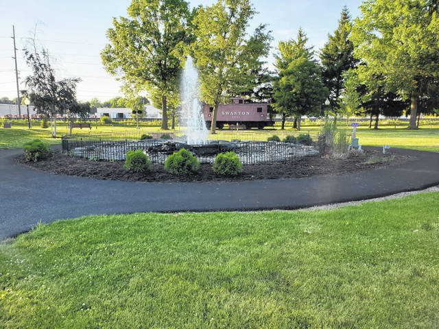 The Rotary Club of Swanton Foundation had a new path completed this month at Pilliod Park. The path goes from the main walkway to the fountain, and travels around it, on the way to another section of walkway.