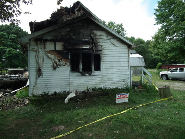 A fire at 3163 County Road D was deemed arson.