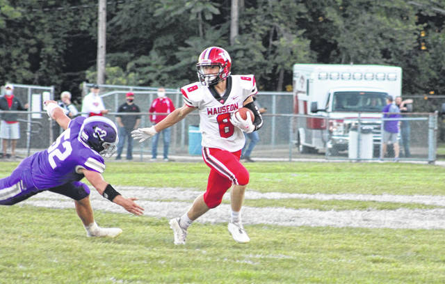 Jude Armstrong of Wauseon returns a punt during Friday night's game at Swanton. He finished the contest with 115 all-purpose yards and a pair of touchdowns.