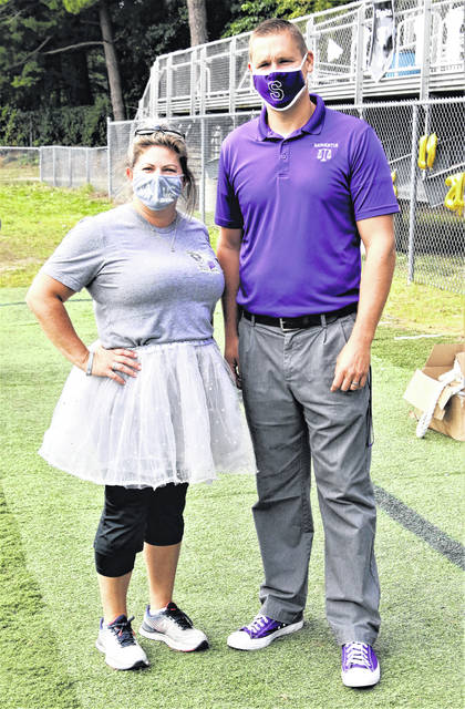 Swanton Middle School Assistant Principal Leigh Pancoast and Principal Matt Smith.