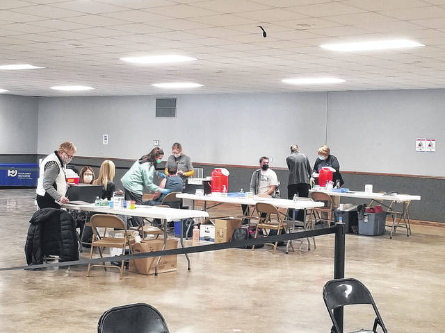 Faculty and staff members from Fulton County's seven school districts were vaccinated against COVID-19 during a clinic held Saturday at the fairgrounds.