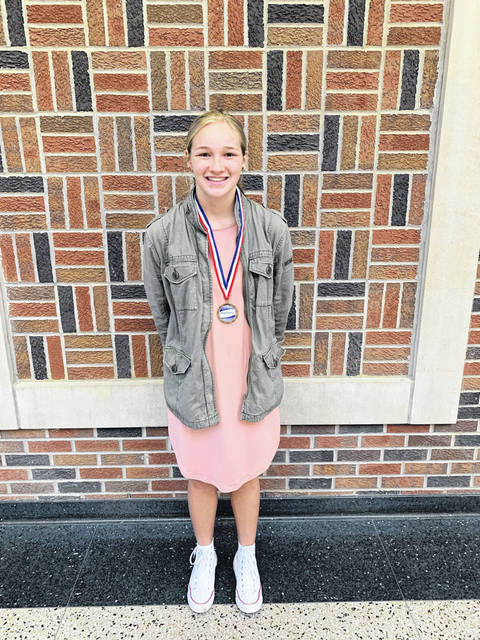 Macy Hoylman of Pettisville was first in the Northwest Ohio MathCounts competition.