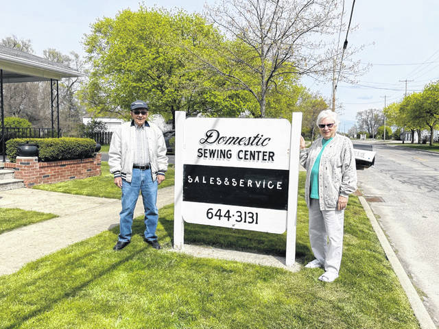 Bernie Sominski, pictured with his wife Shirley, closed his shop, Domestic Sewing Center, in Metamora on Saturday after 65 years in business.