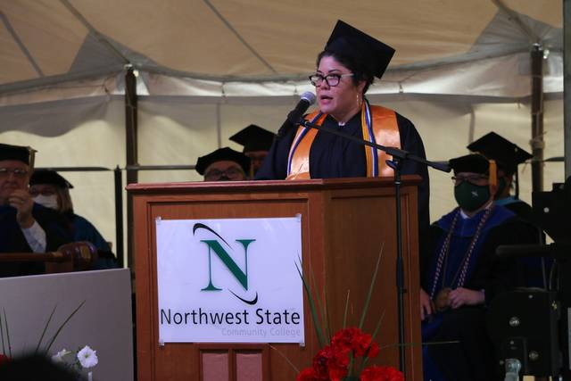 Lucia Myers was selected as student speaker at the Nothwest State Community College commencement.