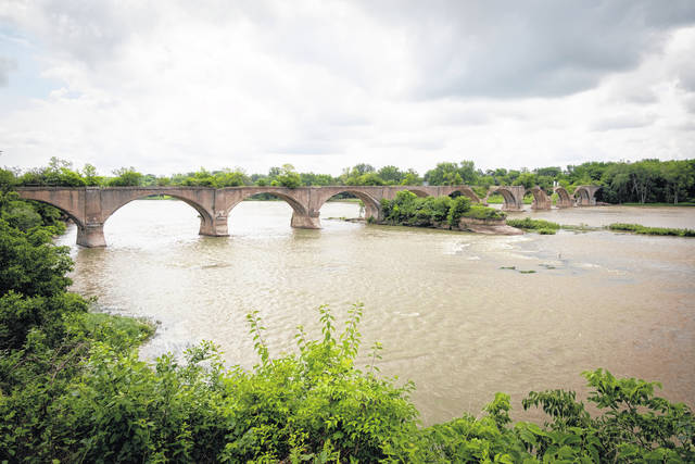 The Roche de Boeuf Interurban Bridge, which spans the Maumee River, is going to be auctioned off.