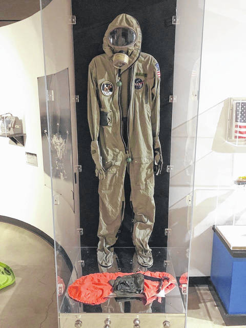 A biological isolation garment worn by Wapakoneta native Neil Armstrong is one of the items included in a new exhibit at the Armstrong Air & Space Museum during Wapakoneta's annual Summer Moon Festival.