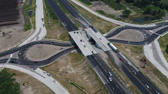 The new interchange at Dorr Street and I-475 in Springfield Township and Toledo will open to traffic Aug. 2