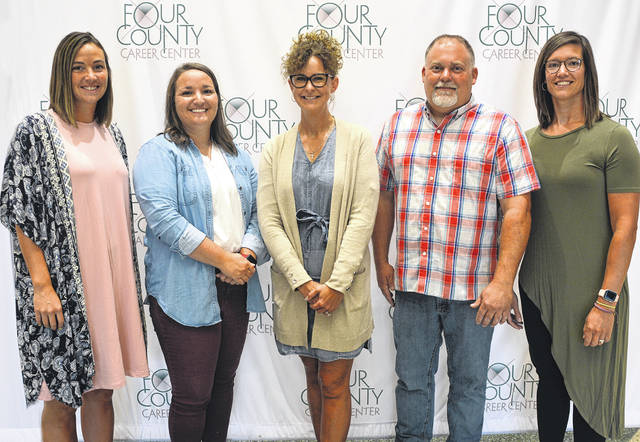 New FCCC staff members shown above are, from left, Brooke Martin, Brittany Sanders, Shawna Schroeder, Eric Eisel, and Jill Holdgreve.