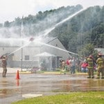 Local fire fighters face off