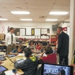 State school superintendent visits Mason County