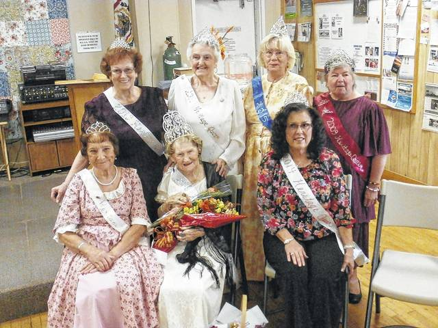 The 2016 Battle Days Queen Charlotte Knaul, pictured second from left, is joined by former Heritage Queens at the recent pageant held at the Gene Salem Senior Center. The deadline for entering this year's pageant is Sept. 29.