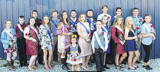 Pictured, from left, are members of the 2017 Hannan Junior/Senior High School Homecoming Court: 8th grade attendant Alli Cade with Layne Holley; 10th grade attendant Summer McDonald with Cody Miller; Homecoming Queen/Miss Wildcat Emily Smith and Mr. Wildcat Malchi Cade; Senior Attendant Kassidee Bush with Nathan McQueen; Senior Attendant Josie Cooper with Chris Conner; 11th grade attendant Pammie Ochis with Caleb Gussler; 9th grade attendant Daniel Fornter with Dillion Starkey; 7th grade attendant Olivia Gay with Caleb Cordell and 7th grade attendent Mackenzie Gibson. Crown Bearers were Lainey Humphreys and Owen Peyton. More from Hannan Homecoming appears inside this edition.