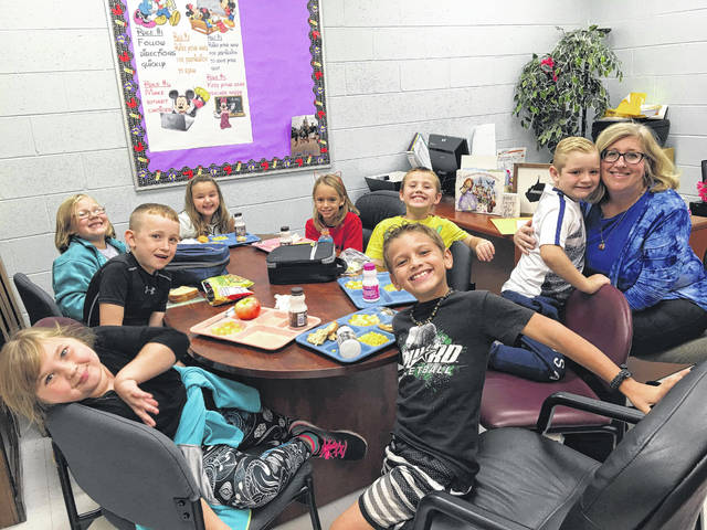 Point Pleasant Primary School's second grade student leaders, for the first nine weeks, recently enjoyed lunch in principal, Vickie Workman's office. These students were selected by their teachers, Mrs. Kim Hunt, Mrs. Blythe Powell, Mrs. Lisa Bryant, and Mrs. Loren Watterson on their leadership qualities. Student leaders are Macy Taylor, Gabby Bennett, Isaac Stevens, Vinny Anthony, Keaton Fisher, Kenzie Arbogast, Landon Hawk, Madison Farley.