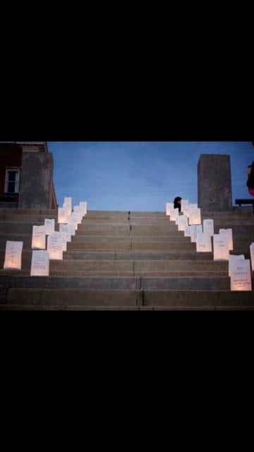 The lighting of luminaries to remember babies lost from miscarriage, stillbirth, or other causes, will be one aspect of the sixth annual Pregnancy and Infant Loss Awareness Day, set for Oct. 15 at the Point Pleasant Riverfront Park. Pictured is a scene from last year's event.