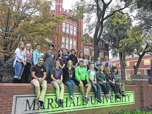 Nineteen students from the Point Pleasant High School Choir, under the direction of Crystal Hendricks, were chosen to participate in the Marshall University Honor Choir this past weekend in Huntington. The group is available to perform at churches and Christmas parties by calling the school, according to Hendricks.