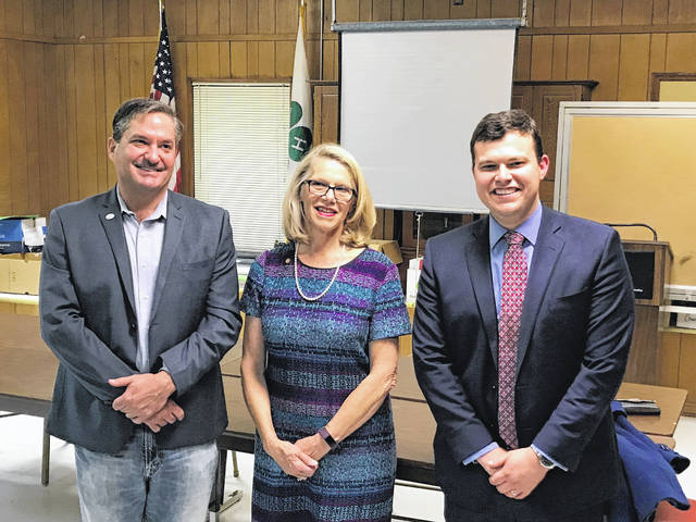 Pictured are Carol Miller, House Majority Whip and Delegate for the 16th District, Conrad Lucas, State Party Chairman, and Delegate Rupie Phillips.
