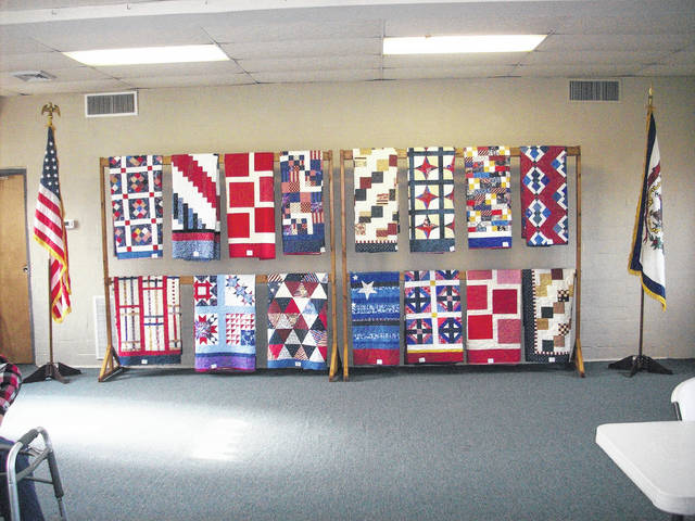 A few of the quilts made and donated by the Quilts and Things Quilting Guild.