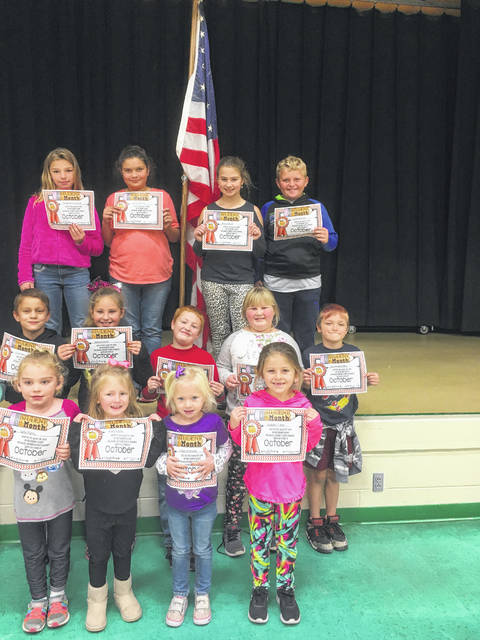 Beale Elementary October Students of the Month for Citizenship were: Zoey Gibbs, Chloe Preston, Kabella Fisher, Jade Plants, Jeremiah Miller, Erin Weaver, Landon Romine, Adyson Fetty, Eli Simms, Jared Robinson, Jasmine Henry, Reece Oliver and Stephanie Leonard. Not pictured: Paizlee White and Talan Pearson.