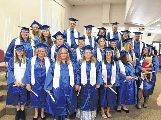 Graduates from the Gallipolis Career College at the commencement ceremony held in September.