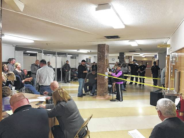 Pictured is a busy Mason County Courthouse on an election night. The spring primary is on May 8, 2018 with the candidate filing period set for Jan. 8 - Jan. 27, 2018.