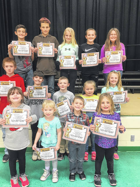 "Beale Elementary November Students of the month for the trait of ""caring"" are: Paxton Putney, Aliana Norris, Annabell Smith, Keira Bryant, Hannah Coleman, Aiden Baird, Wyatt Casto, Delilah Clark, Madisyn Arrington, Trevor Bailes, Joey Pinkerton, Delia Mattox, Jacob Pearson, and Jonathan Slayton. Not pictured Carson Clark."