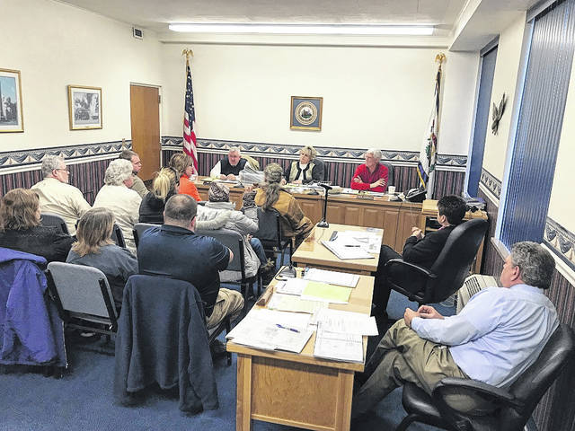 Members of the public express concerns about the Mason County Animal Shelter at this week's Mason County Commission meeting.