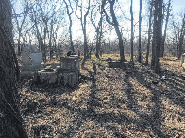 A look at the Lewis-Sehon Cemetery after its cleanup.