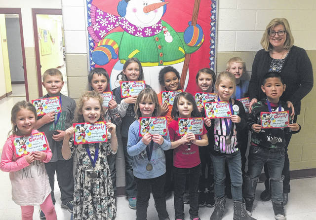 The Point Pleasant Primary School Students of the Month for January were recently selected and ate lunch with their principal. The students pictured with Principal Vickie Workman are Mikey Allen, Jocelyn McCoy, Brooklyn Black, Eli Bryan, Alivia Musser, Chloe Stuckey, Kaiden Jeffers, Jason Li, Olivia Goldsberry, Kaylee Chapman, Kamron Patterson, Kaelynn Cox, and Kaelynn Haynie.