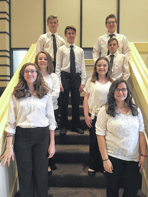 The Point Pleasant Junior High School All State Choir, members pictured, recently performed for the West Virginia American Choral Director's Association.