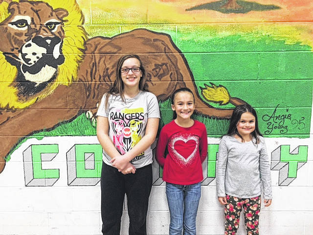 Leon Elementary students participated in the Young Writer's Competition in January. Students wrote stories and competed against other classes in the school. Leon's school winners were: Livia Rymer for 1st and 2nd grades, Bailey Hudnall for 3rd and 4th grades, and Emma Angel for 5th and 6th grades. The school winners' essays then competed with other essays in the county. Livia Rymer and Emma Angel both won at county level and their essays will now compete against other essays throughout the entire state. The two girls will be recognized for their hard work in May in Charleston. The winners pictured from left to righ are Emma Angel, Bailey Hudnall, and Livia Rymer.