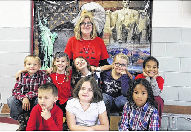 Point Pleasant Primary School announces its second nine week student leaders. This honor is given to deserving second graders based on the kindness, helpfulness, and leadership qualities that these students exemplify. Pictured with Principal Vickie Workman are Brayden Gardner and Amanda Jones from Mrs. Hunt's class; Tyshawn Clendenin and Mckynlee Gilley from Mrs. Powell's class; Braydon Blain and Eva Barton from Mrs. Watterson's class; Franny Flora and Eli Bryan from Mrs. Bryant's class.