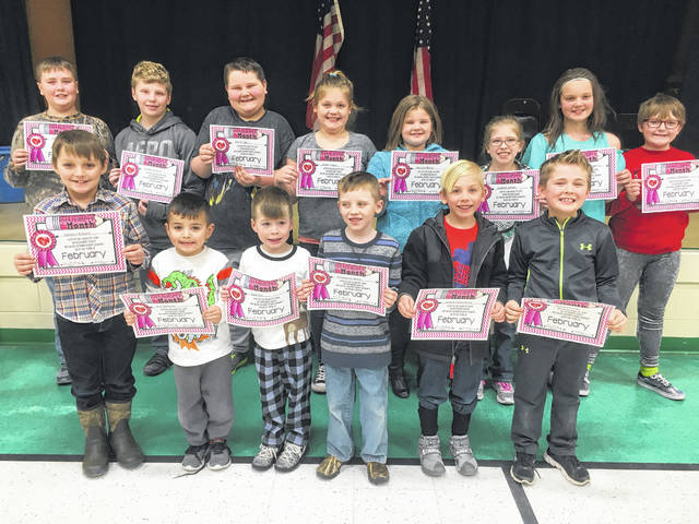 "Beale Elementary February Students of the Month for the character trait of ""judgment"" are pictured: Eric Ventura, Lane Dill, Chauncey Holler, Victoria Burris, Braylon Beaver, Itayus Canterbury, Landon Asbury, Shaelyn Dempsey, Katelynn Blankenship, Isabella Mayes, Brody Pearson, Wyatt Cain, and Hunter Bryant. Averi Taylor was not pictured."
