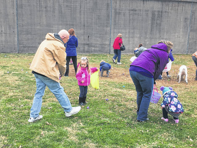 Parents were allowed to assist the youngest of the egg hunters, ages one to three.