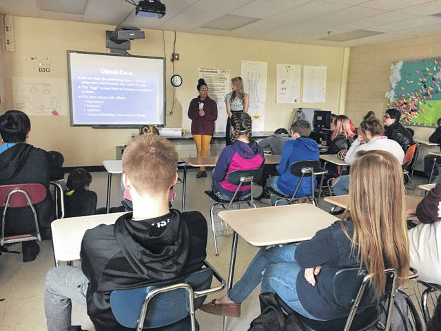 West Virginia Attorney General Patrick Morrisey's expanded partnership with colleges in West Virginia brought students from Marshall University to Hannan Junior/Senior High School last week to share drug abuse prevention information with eighth grade students.