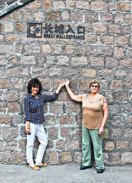 Patricia Whitlock of Point Pleasant and Sally Byler of Jackson, recently returned from a 17 day journey to China.