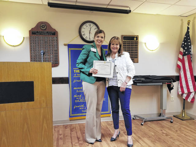 Point Pleasant Rotary recently welcomed new member Crystal Tolley, executive director physician services and compliance officer at Pleasant Valley Hospital. Pictured with Tolley is Janet Hartley, rotary membership chairperson.