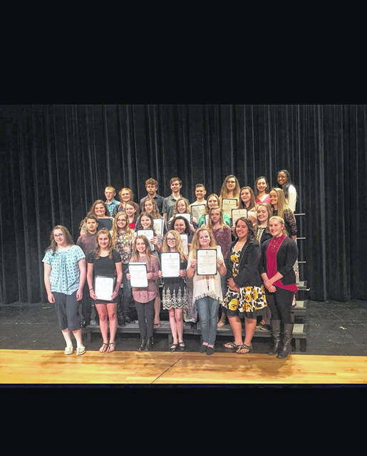 The newly inducted PPJHS National Honor Society members are as follows: Matison Brown, Annabell Clark, Olivia Dunn, Mattilyn Fields, Kennedy Fisher, Trendon Jackson, Jada Kent, Emalee Martin, Maddie Newell, Nicole Oldaker, Jaidyn Patrick, Addyson Stein, Zoey Watson, David Bledsoe, Jadyn Bowman, and Kady Hughes.