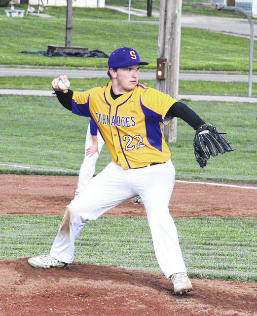 Southern sophomore Coltin Parker winds up for a pitch during his no-hitter win over South Gallia on Thursday in Racine, Ohio.