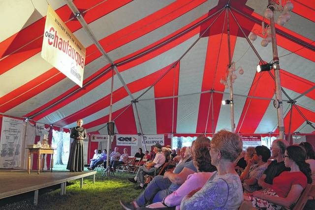 The big top tent is coming back to Gallipolis City Park in June for the Ohio Chautauqua. Pictured is a scene from a previous Chautauqua hosted in Gallipolis.