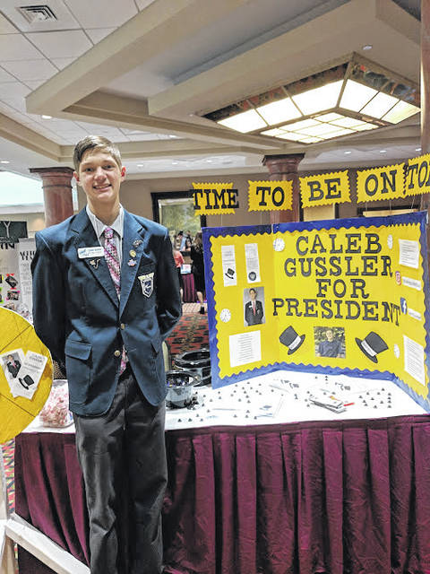 Hannan High School Junior Caleb Gussler, pictured, was elected as the 2018-19 West Virginia State FBLA president.