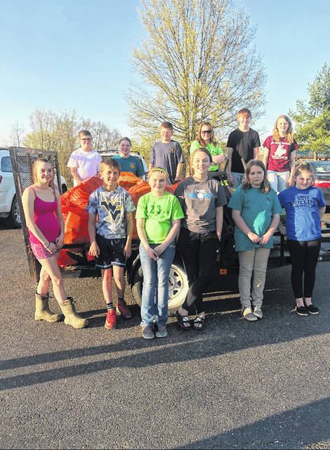 The Busy 4's 4-H Club picked up trash on April 30 on Route 87 for their spring Adopt-A-Highway cleanup.